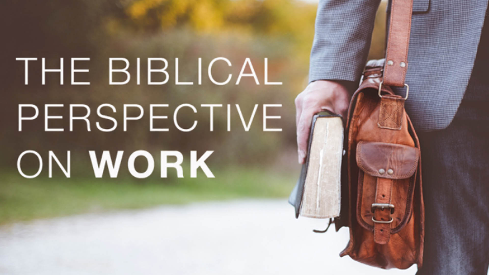 The Biblical Perspective on Work